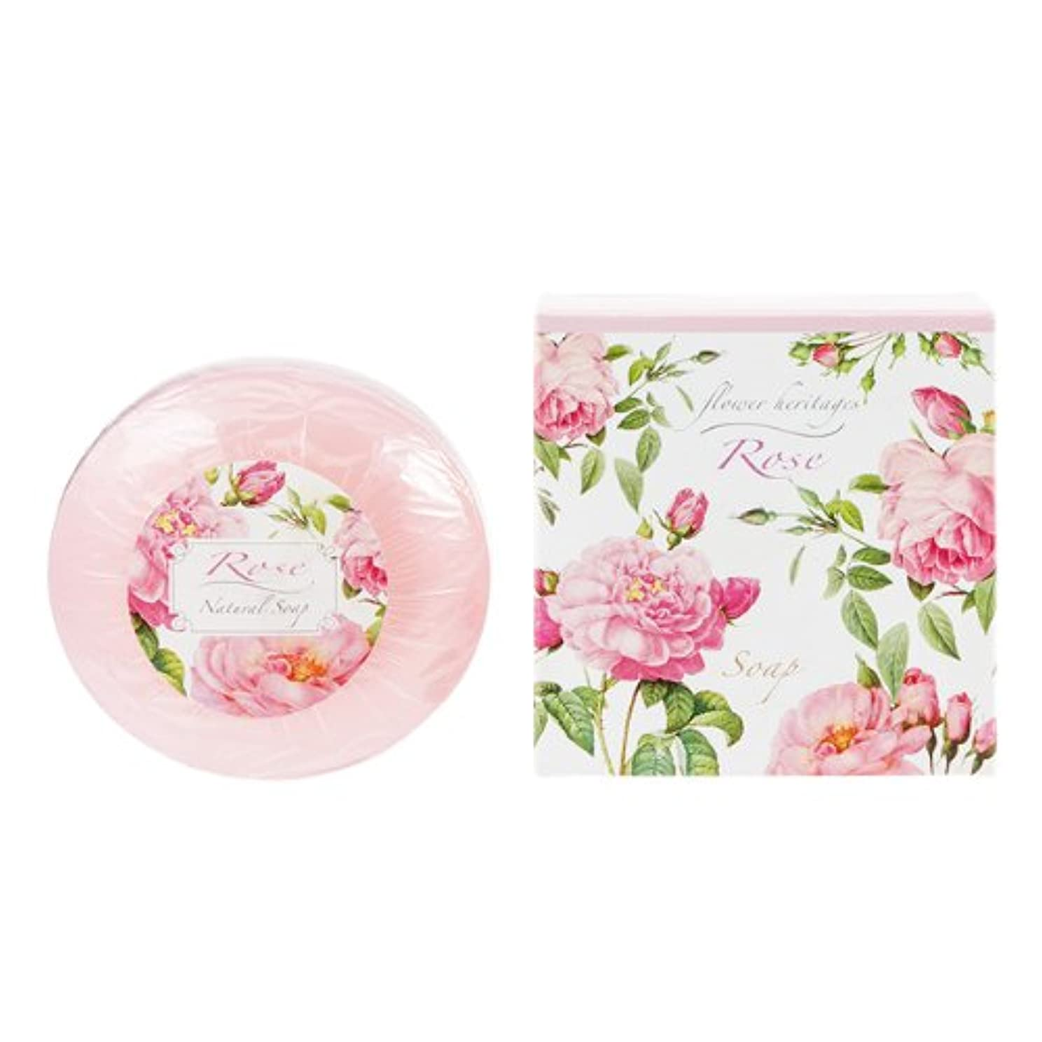 溶けた破壊酔ったネイチャータッチ (Nature Touch) Flower Heritage ソープ120g/ローズ