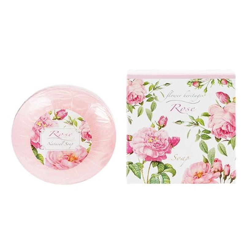 メタン左揮発性ネイチャータッチ (Nature Touch) Flower Heritage ソープ120g/ローズ