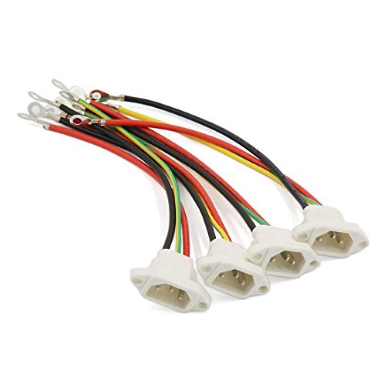 について性格つぶす電動自転車のための特殊なアダプタのコネクタを充電DealMux 4本21.8センチメートルロング3つの端子の配線