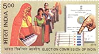 Election Commission of India Institution Rs. 5 Indian Stamp