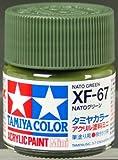 タミヤカラー アクリルミニ XF-67 NATOグリーン つや消し