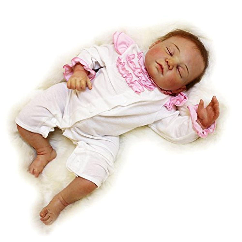 フロッピーボディPursueベビーハンドメイドソフトSiliconeビニールRebornベビー人形Siena、20インチリアルなWeighted新生児赤ちゃん人形with Hairコレクションアート