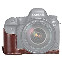 Yangjingya キヤノンEOS 6D / 6DマークIIのためのハイエンドカメラケース 1/4インチのスレッドPUレザーカメラケース半ヌクレオチド(ブラック) (色 : Coffee)