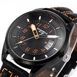 Men レザーストラップ watch best military watches for men メンズ 男性用 腕時計 ウォッチ(並行輸入)