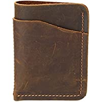 LDUNDUN-BAG, 2019 Men's Wallet, Jacket, Wallet, Retro Art Wallet, Mad Horse Picnic Package, Small Wallet (Color : Metallic, Size : S)