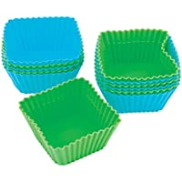 Wilton Square Silicone Baking Cups, 12 Count [並行輸入品]