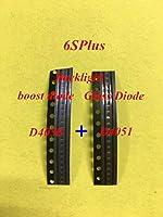 10set / lot(20pcs)オリジナルの新しいiPhone 6S 6splusバックライトブーストダイオードic D4050 +ガラスダイオードD4051