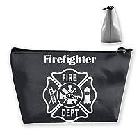 収納袋 コスメポーチ 筆箱 台形 化粧品入れ 高級品 軽量 大容量 日常 通勤 通学 旅行 温泉 機能的 ギフト 消防署 ロゴ