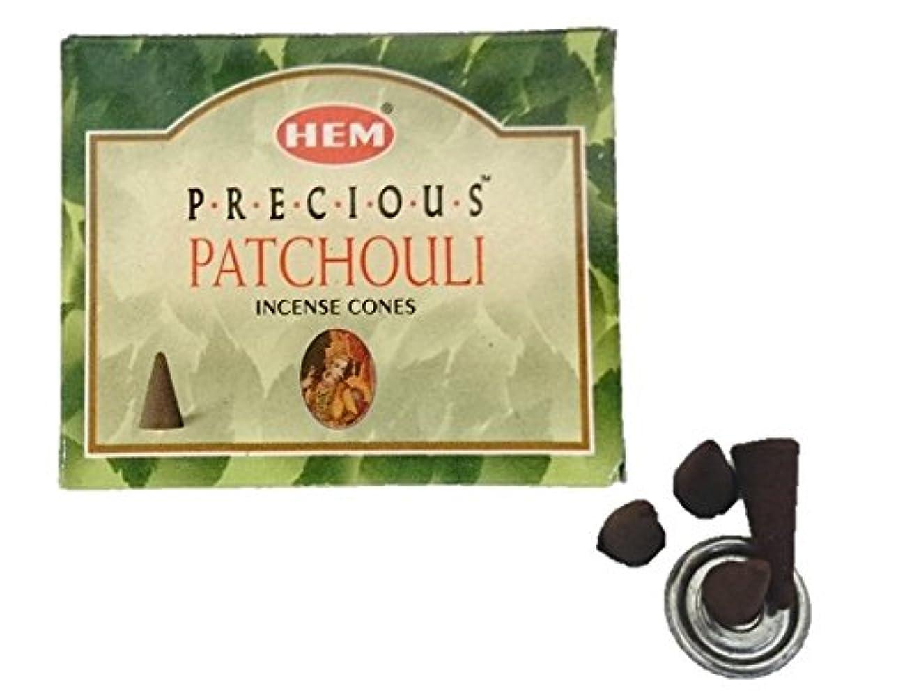 適合する排出技術HEM(ヘム)お香 プレシャス パチュリ コーン 1箱