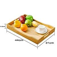 竹製 お盆 食器 トレー 定食用 業務用 家庭用 トレイ おしゃれ 角型 枠 取っ手 付き