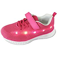 YUNICUS Kids Light Up Shoes Led Flash Sneakers with Spider Upper USB Charging for Boys Girls Toddles