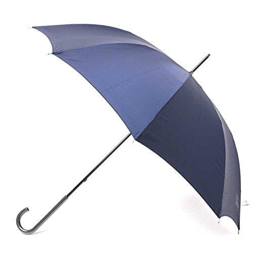 傘 シンプル スリム 軽量 無地 シャドーロゴ 60サイズ 全長91cm 親骨60cm バーバリー 71848 BURBERRY ネイビー メンズ