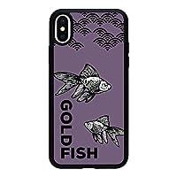 iPhone 6s 背面 アクリル ブラック 薄型 スマホケース スマホカバー ac106(C) 金魚 きんぎょ キンギョ アイフォン6s アイフォンシックスs スマートフォン スマートホン 携帯 ケース アイホン6s アイホンシックスs TPU バンパー スマフォ カバー