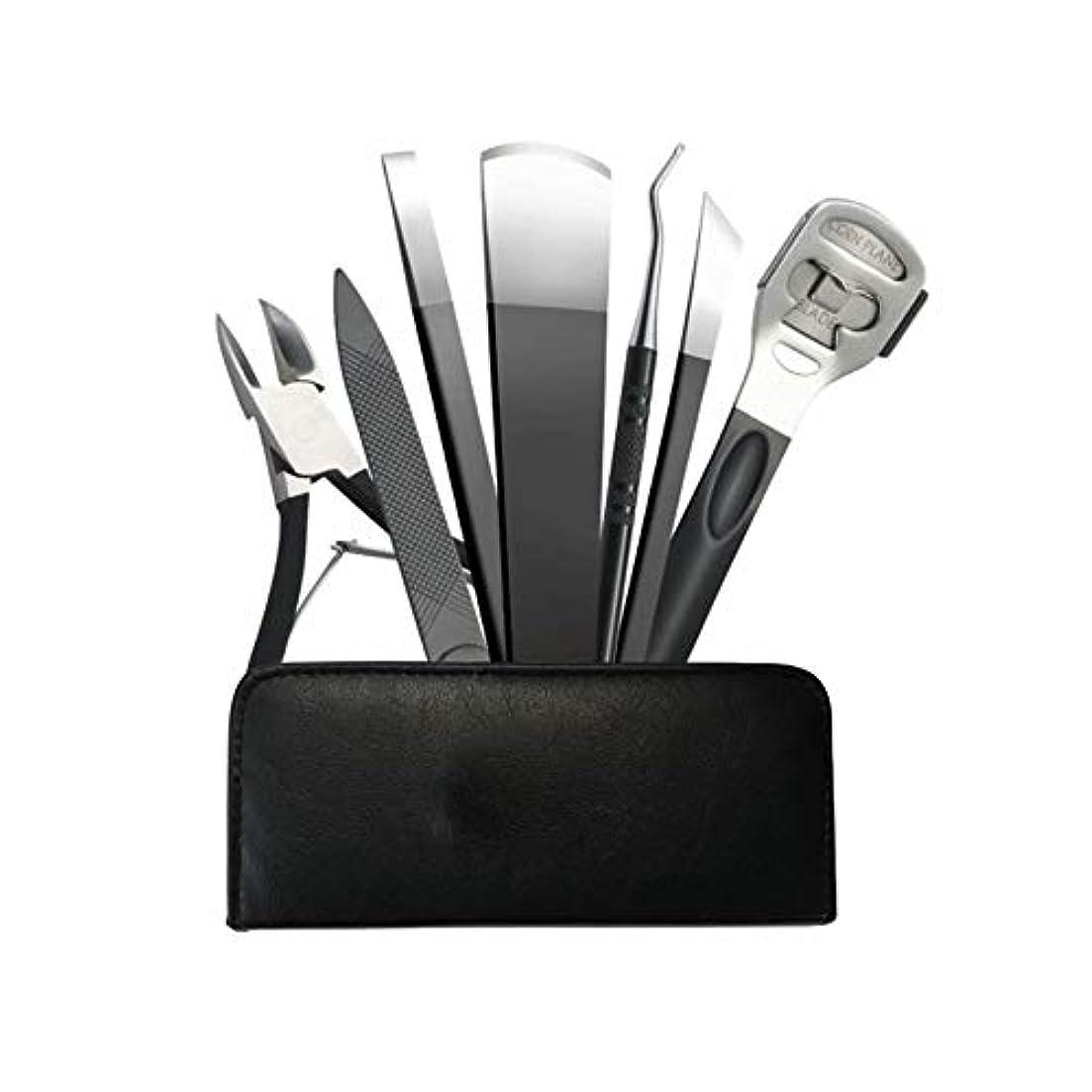 マイルカップルメールJIAYIZS プロフェッショナルペディキュアナイフ7点セットネイルクリッパーペディキュアペディキュアツール (Color : Silver)