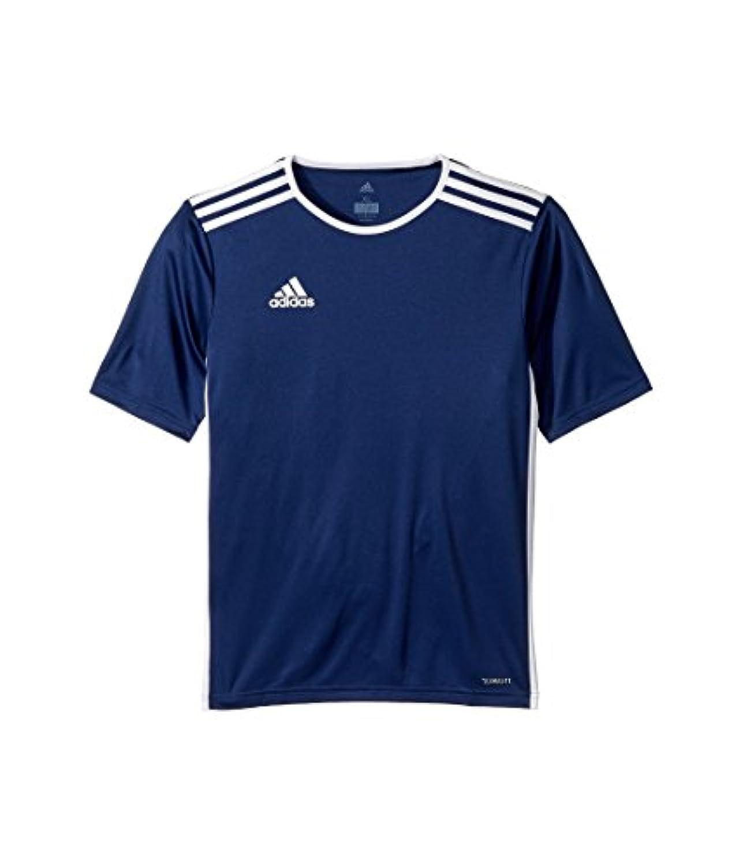 (アディダス) adidas キッズTシャツ Entrada 18 Jersey (Little Kids/Big Kids) Dark Blue/White LG (14-16 Big Kids) (L) One Size