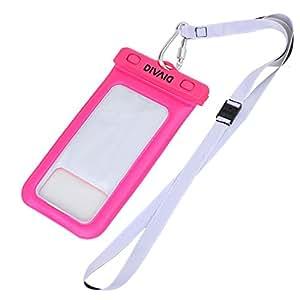 DIVAID 水に浮く iPhone 防水ケース IP68 スマホ iPhone6s iPhone6 iPhone5s / ピンク