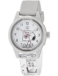 [シチズン Q&Q] 腕時計 キューアンドキュー スマイルソーラー スヌーピー コミック 10気圧防水 ウレタンベルト RP01-808 グレー