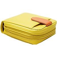 レディース ボックス型小銭入れと24収納ポケット付きラウンドファスナー財布 ベルトデザインがかわいいサイフ 隠しカード入れ付き 二つ折り