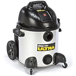 Shop Vac 24L1600 Ultra 45 Litre S/S Wet/Dry Vacuum, Silver