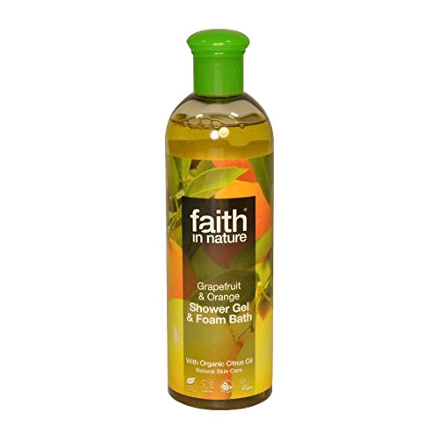 反論グラスカード自然グレープフルーツ&オレンジシャワージェル&バス泡400ミリリットルの信仰 - Faith in Nature Grapefruit & Orange Shower Gel & Bath Foam 400ml (Faith...