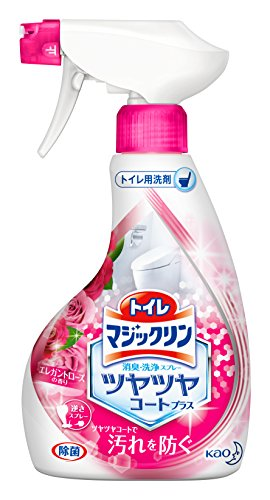 トイレマジックリン ツヤツヤコートプラス トイレ用洗剤 消臭・洗浄スプレー エレガントローズの香り 本体 380ml