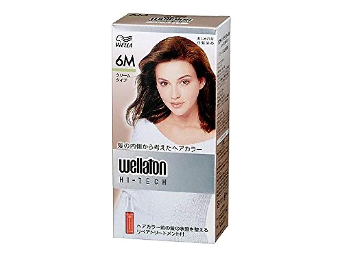 硬い請求エイズ【ヘアケア】P&G ウエラトーン ハイテック クリーム 6M グリーン系の自然な栗色 白髪染めヘアカラー(女性用) 医薬部外品×24点セット (4902565140466)