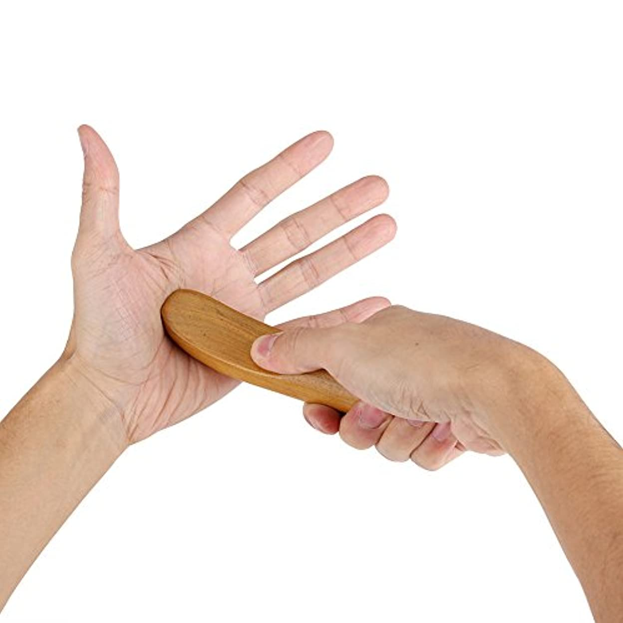 不名誉な羨望独立香りのよい木指圧ポイント子午線掻き寄せスティックミニフィンガーバックボディマッサージャー