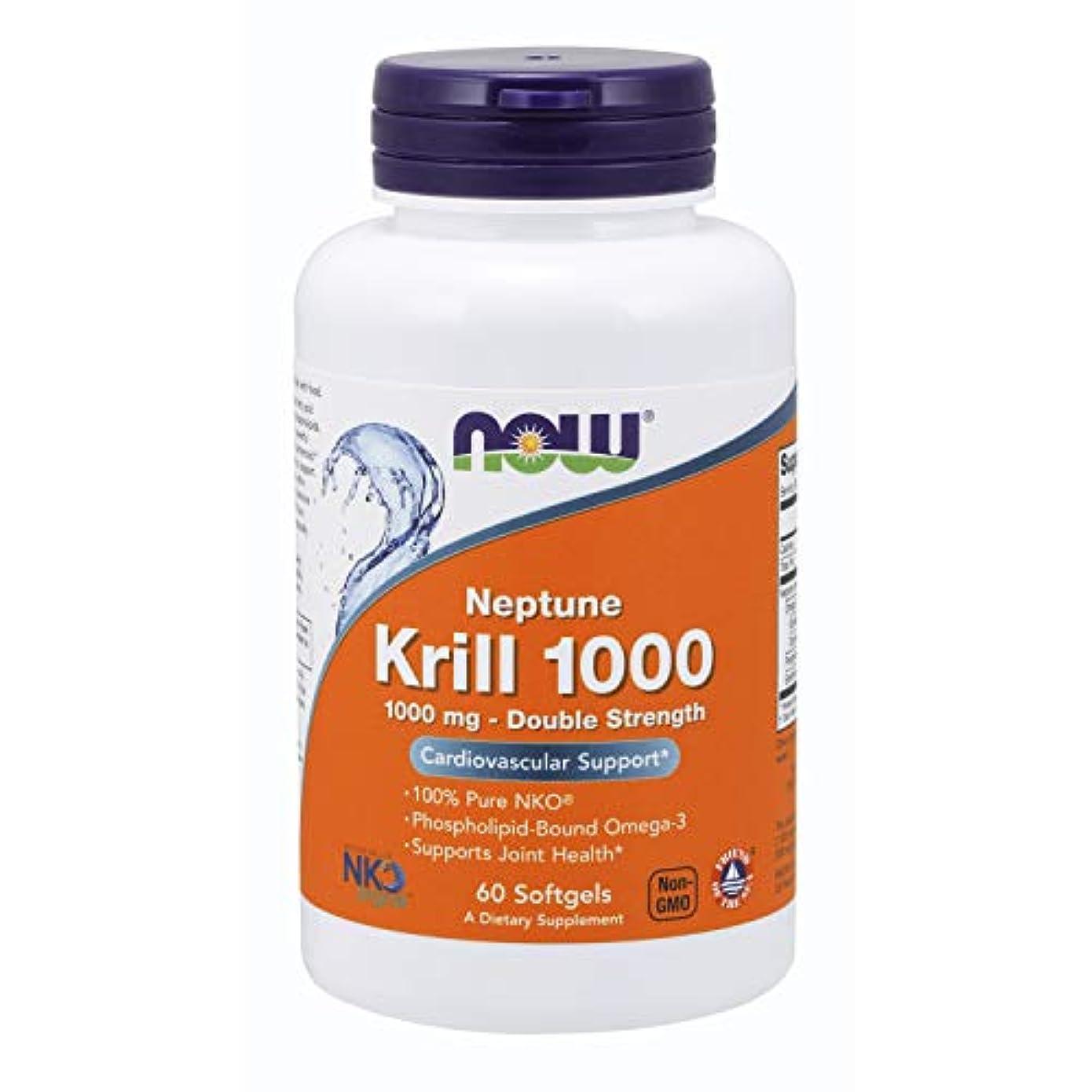 常に原因巨大な[海外直送品] ナウフーズ   Neptune Krill Oil 60 Softgels 1000 mg