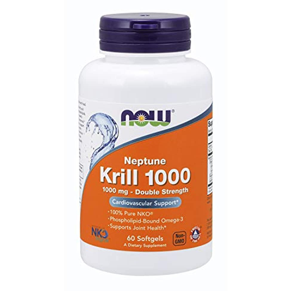 教授平らな気になる[海外直送品] ナウフーズ   Neptune Krill Oil 60 Softgels 1000 mg