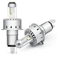 SUPAREE 車検対応 LED ヘッドライト H4 Hi/Lo切り替えタイプ CREE社製 XHP50 LEDチップ搭載 オールインワン 8000LMX2 40WX2 6000K DC12V-24V ホワイト 2個セット 一年保証付き
