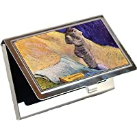 Still Life with Plaster Statuette Aローズと2つの小説by Vincent Van Goghビジネスカードホルダー