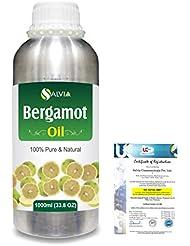 Bergamot (Citrus aurantium) 100% Natural Pure Essential Oil 1000ml/33.8fl.oz.