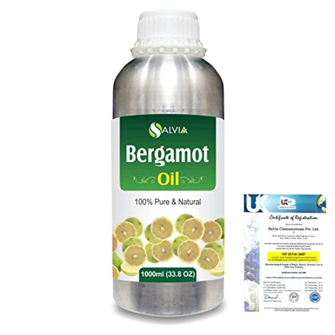 落とし穴必需品まばたきBergamot (Citrus aurantium) 100% Natural Pure Essential Oil 1000ml/33.8fl.oz.