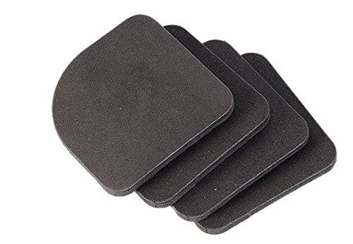 洗濯機 振動吸収パット 簡単 置くだけ 4個入 耐荷重 40-100kg 振動防止 すべり止め キズ防止 防振 防音