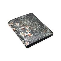 TRKGNB 財布 植物 マツヨイグサ 二つ折り 財布 メンズ レディース 小銭入れ 革 高級 おしゃれ 大容量 手触り良い 薄型 カード4枚収納 紙幣 札 人気 プレゼント 男女兼用