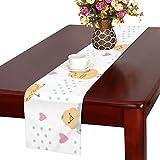 GGSXD テーブルランナー 面白い ひよこ クロス 食卓カバー 麻綿製 欧米 おしゃれ 16 Inch X 72 Inch (40cm X 182cm) キッチン ダイニング ホーム デコレーション モダン リビング 洗える