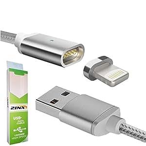 ライトニング マグネット 快速充電ケーブル 通信 120cm lightning iPhone ipad siliver set