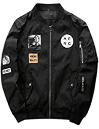 chenshiba-JP メンズフルジップジャケットコートバルジカスタムフィットフライトジャケット