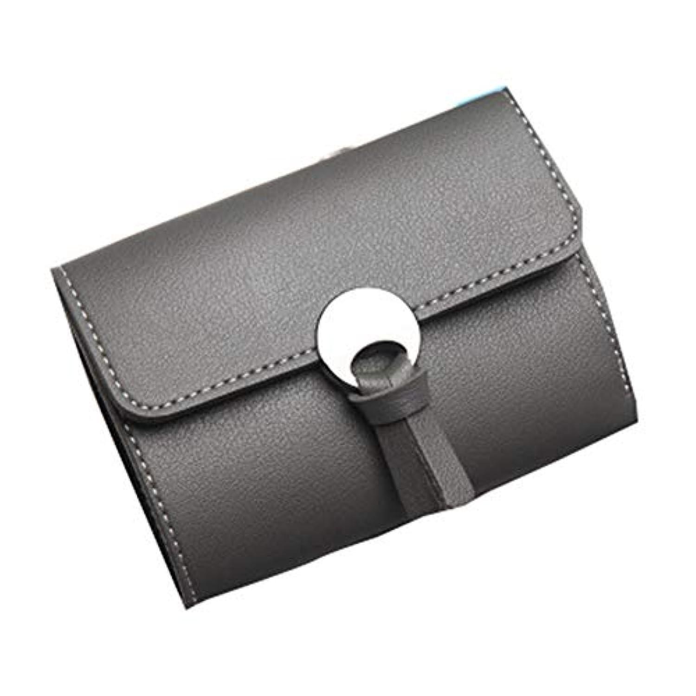 [QIFENGDIANZI]三つ折り財布 レディース 無地 かわいい ミニ財布 がま口 大容量 小銭入れ カードケース 携帯便利 女性用 プレゼント おしゃれ 小型 軽量 仕切り 12 * 9 * 1CM