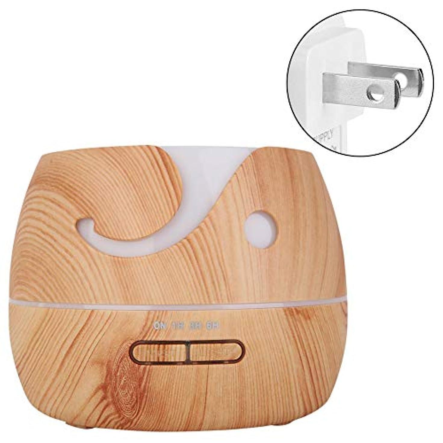 換気する酸っぱい設計アロマエッセンシャルオイルディフューザー付き7色LEDクールミスト加湿器寝室用リビングルームスタディヨガスパ(100?240V)