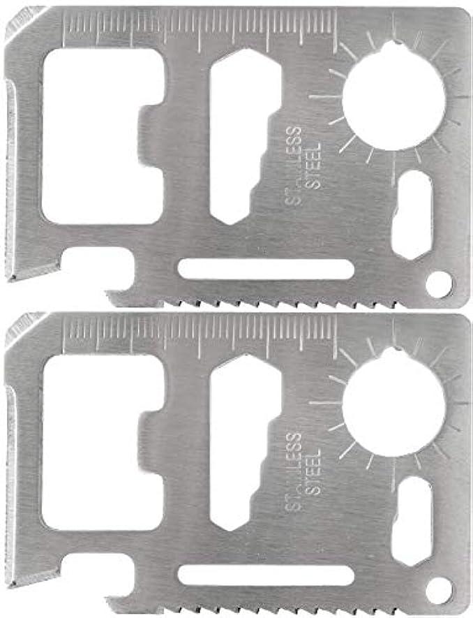 カバレッジ処分した啓示オーディオファン ツールセット カードタイプ 10徳 ステンレス 2枚セット