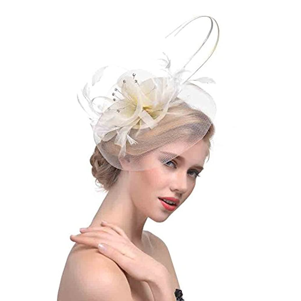 Definito-JP Jockey Club Banquet Small Top Hat Bowler Hat Bridal Mesh Headdress Hair Accessories
