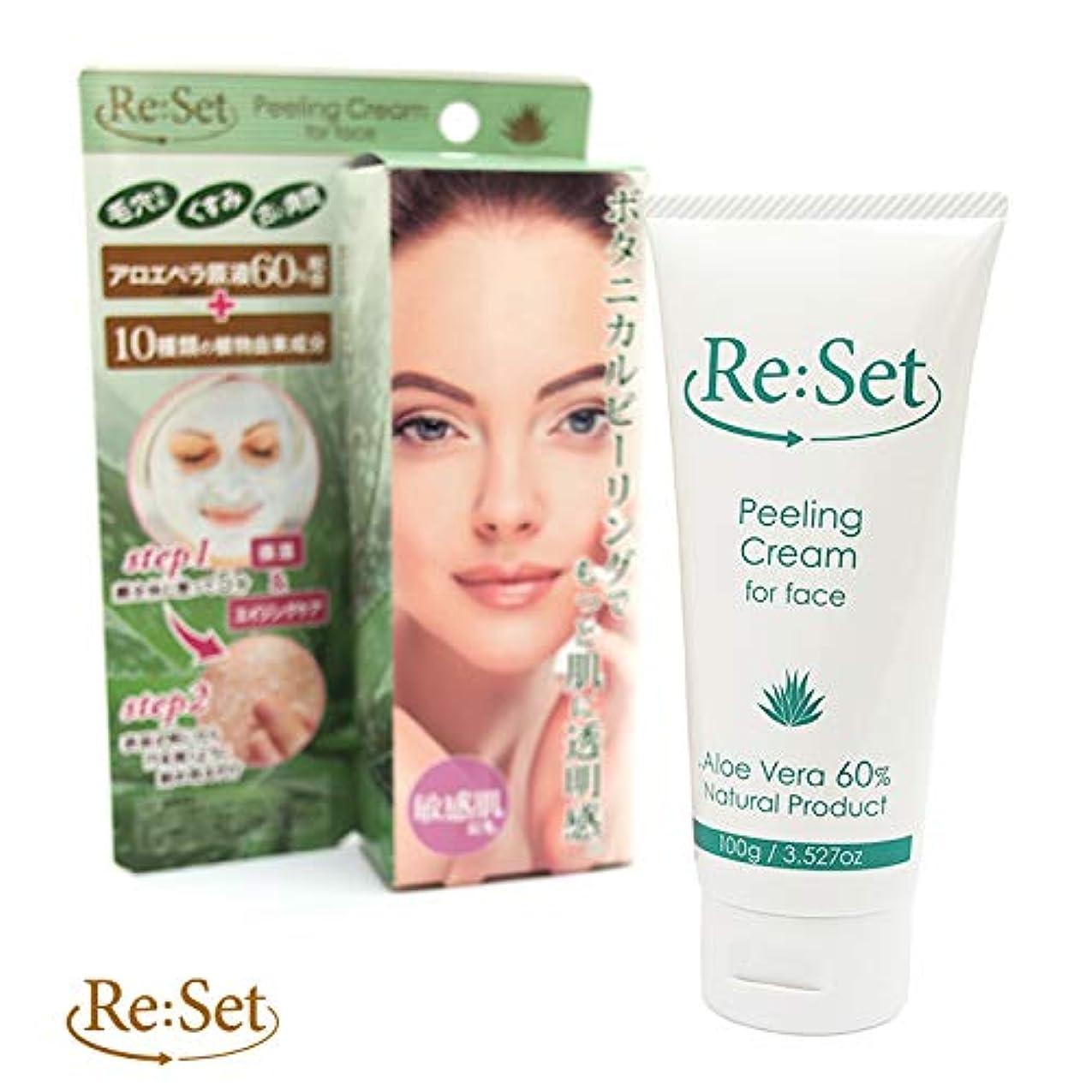 首尾一貫した支援する絶望Re:Set(リセット) 顔専用ピーリングクリーム