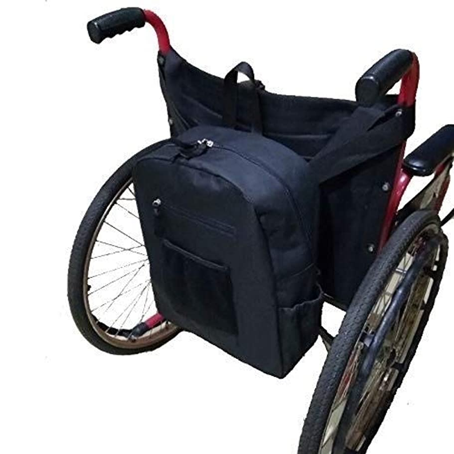 明快おとうさん市民車椅子用バッグ、丈夫なオックスフォードの布製の椅子用バッグ車椅子用リュックサックバッグ、高齢者用?身体障害者用 - ほとんどの車椅子用
