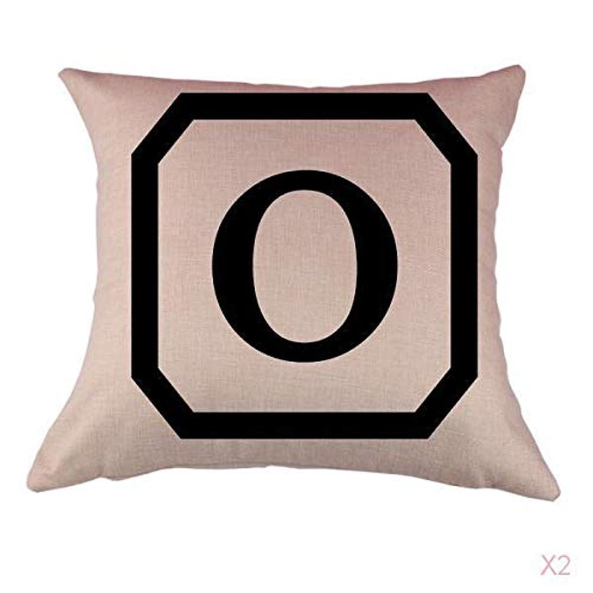 不変意識的もっともらしいコットンリネンスロー枕カバークッションカバー家の装飾、初期アルファベットのO