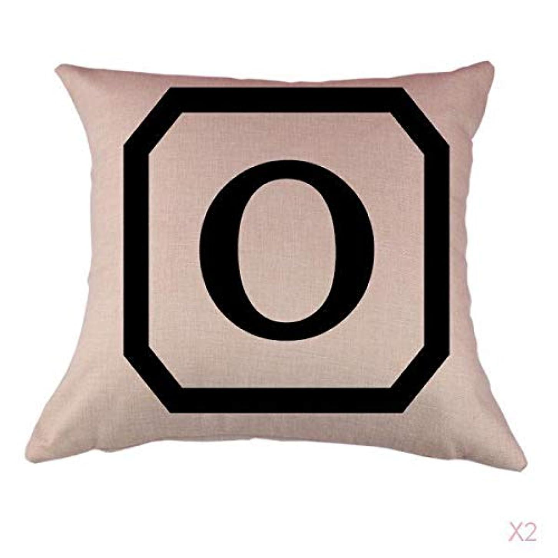 行進陰謀スペアコットンリネンスロー枕カバークッションカバー家の装飾、初期アルファベットのO