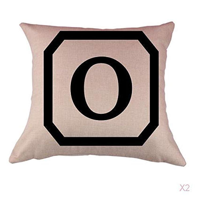 ハンマー現金道路コットンリネンスロー枕カバークッションカバー家の装飾、初期アルファベットのO