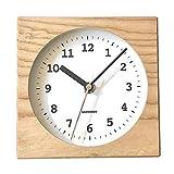 KATOMOKU Dual use clock 4 km-95NRC ナチュラル 電波時計 連続秒針