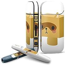 IQOS 専用 COMPLETE アイコス 専用スキンシール 全面セット サイド ボタン スマコレ チャージャー カバー ケース デコ ラブリー ユニーク たぬき キャラクター 007137