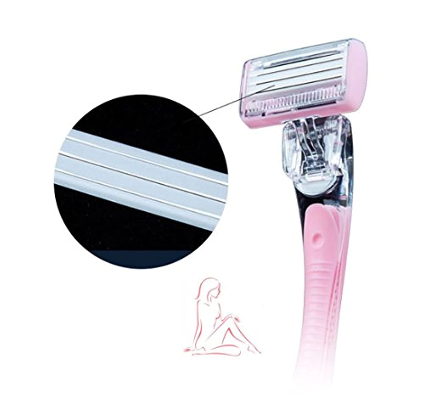 回転させる同行する受益者(女性用)除毛 セラミック シェーバー 世界初 非金属 セラミック 錆びないシェーバー 皮膚刺激最小化, 肌の傷防止 並行輸入
